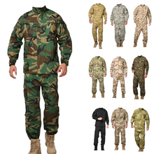 army militärischen taktischen fracht hose uniform wasserdicht tarnung taktische militärische bdu kampfuniform us army männer kleidung gesetzt(China (Mainland))