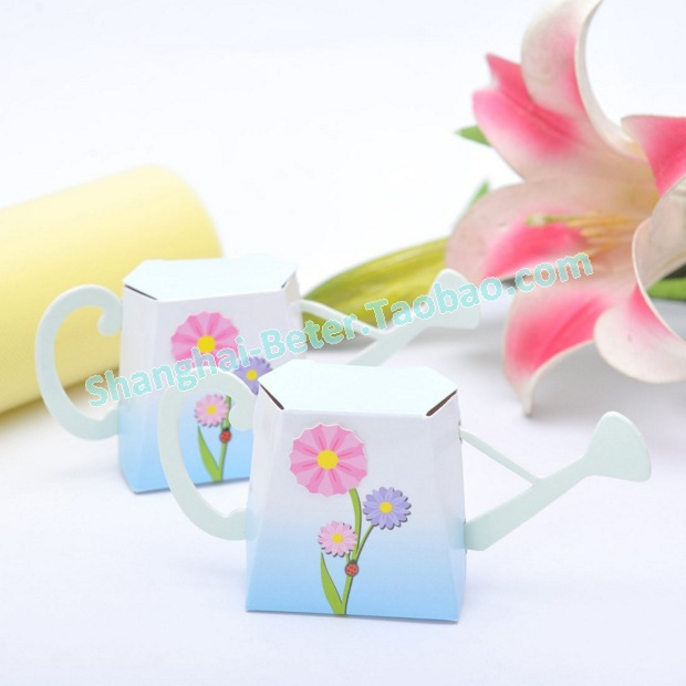 Free Shipping Watering Can Favor Box Kit With Flower 48pcs