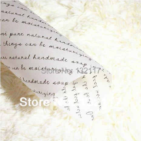 100sheets Handmade Soap Wrapping Paper Printed Wax Glassine Party Favor Gift - E-packing store
