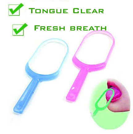 Plastic Hygiene Mouth Care New Oral Tongue Cleaner Scraper Fresh breath maker oral hygiene personal care M01-QST(China (Mainland))