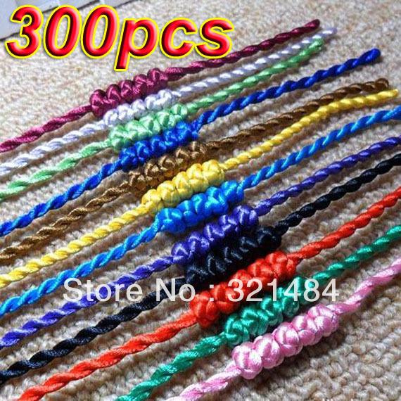 Wholesale Fashion Bracelet !!! 300pcs Mixed Silk Satin Twist Cord Braclet For Europe&amp;America Charm Jewelry<br><br>Aliexpress