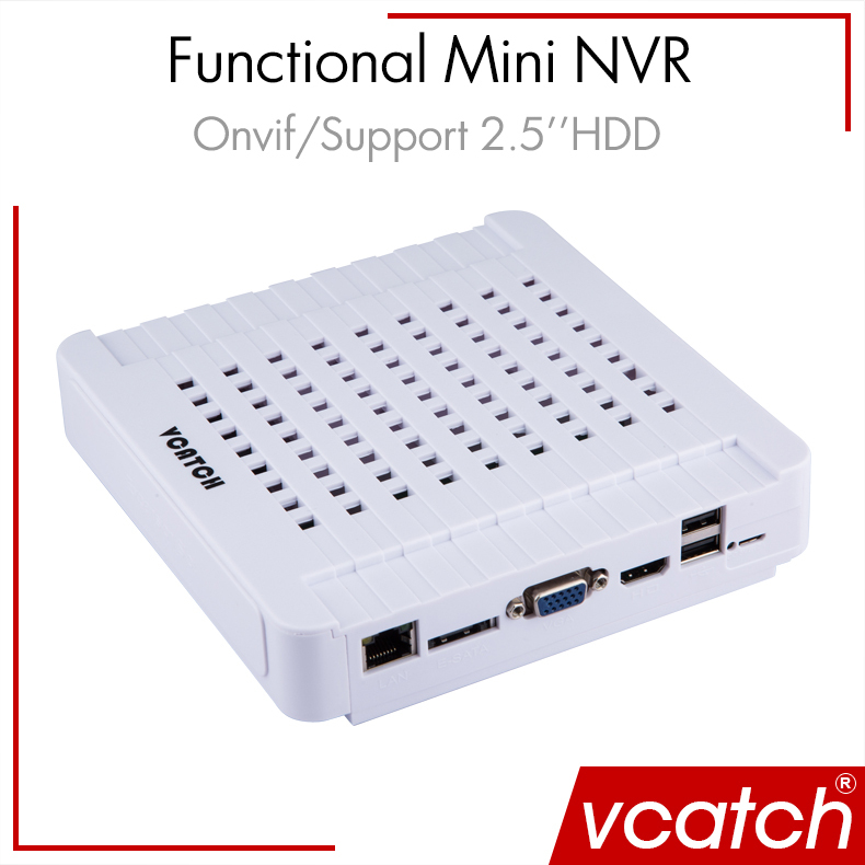 "Free Shipping NVR 4ch 8ch Mini NVR 720P/1080P Network HD Video Recorder NVR for IP Camera System Support 2.5"" HDD 3G Wifi Vcatch(China (Mainland))"