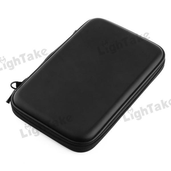new saling 50 pcs/lot New Arrival Universal Zipper PU Leather Case Bag with Speaker for 7 Inch Tablet PC - Black(China (Mainland))