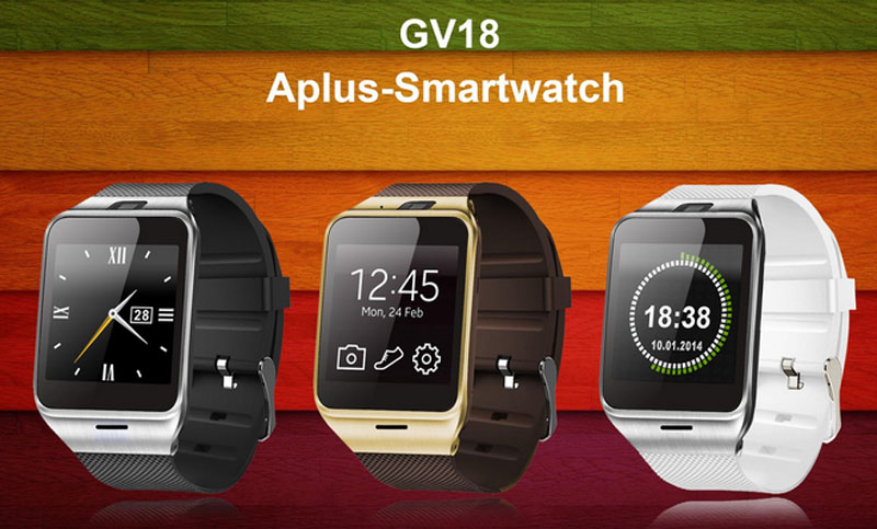 """New Aplus GV18 Smart watch phone 1.55"""" GSM NFC Camera wrist Watch SIM card Smartwatch For IOS Android Smartphone(China (Mainland))"""