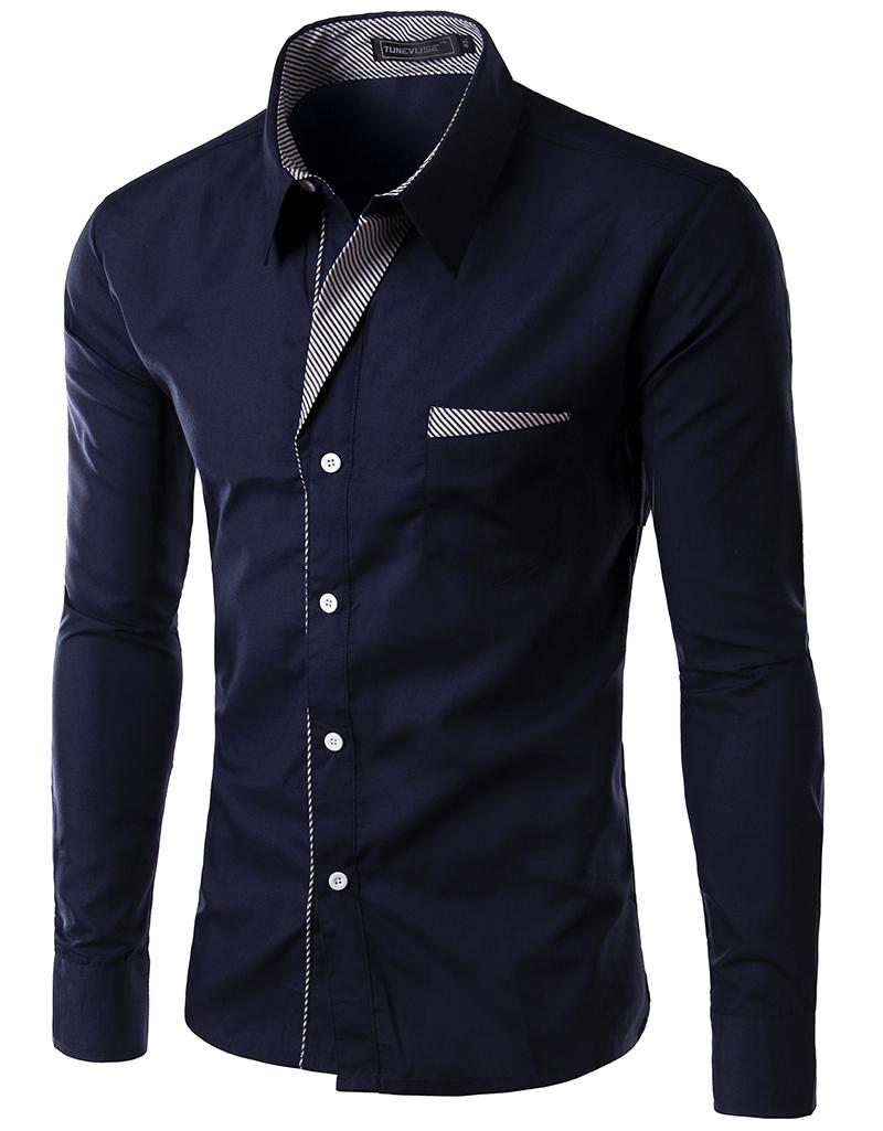 Men 39 S Slim Luxury Stylish Casual Shirts Long Sleeve Shirts