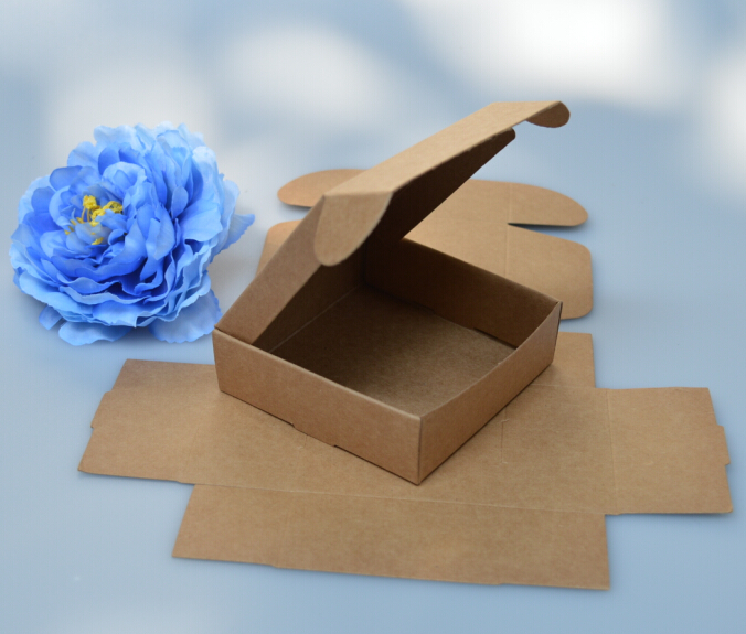 Size: 6.1*4.7*2.7cm, kraft gift paper boxes , soap packaging boxes , small cardboard boxes(China (Mainland))