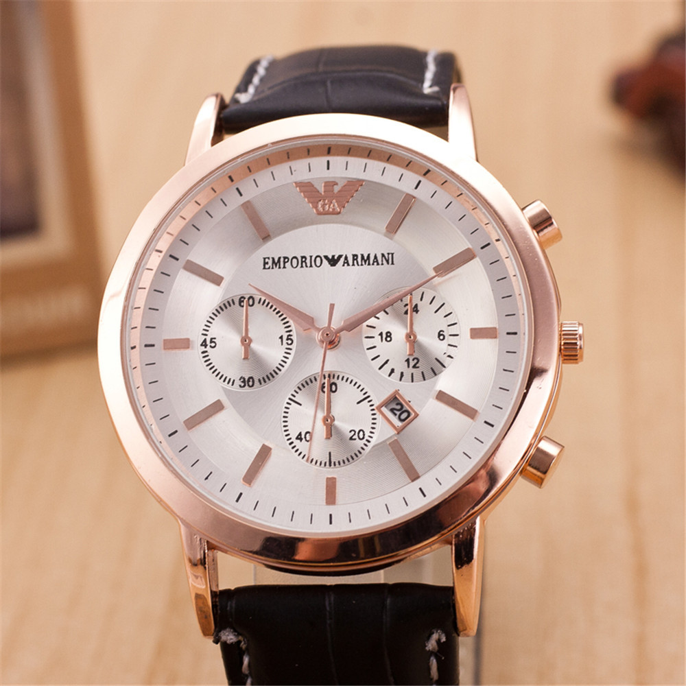 Brand 2015 New Unisex Vintage luxurious AM Watch Leather Bracelet Wrist Watch with Wide Band Big Dial Watch Hours for Men Women(China (Mainland))