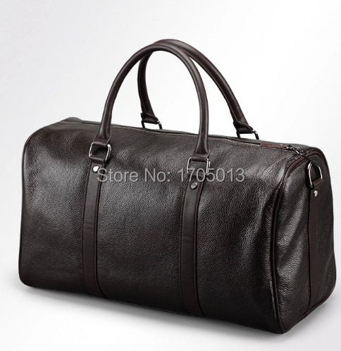 Hot Sold Branded Man weekend bags Hiqh Quality Lichee Grain Cow Leather Men Fashion Tote Bag Geneniu Leather Handbags<br>