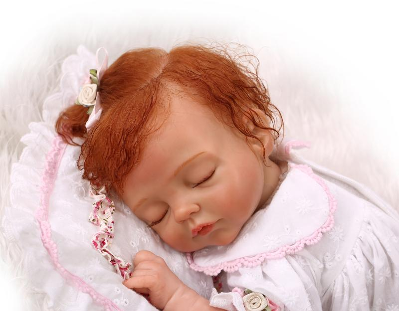 Фотография NPK COLLECTION DOLL Silicone Reborn Sleeping Baby Doll Toy Lifelike Newborn Girl Babies Child Kids bebe Birthday Gift reborn