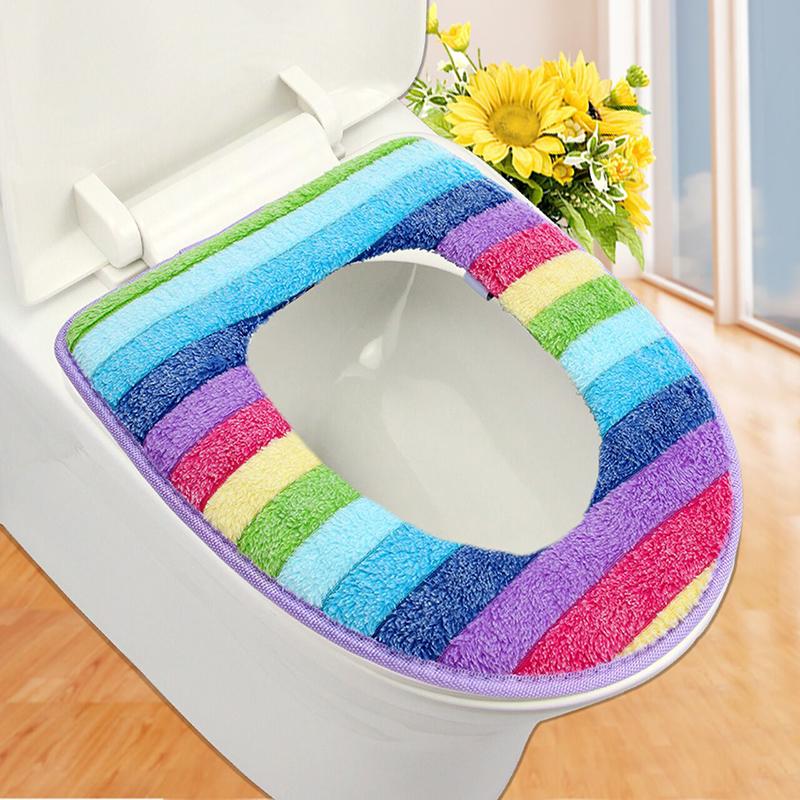 Cool  Pattern Design Bath Pedestal Amp Toilet Seat Cover Bathroom Mat Set