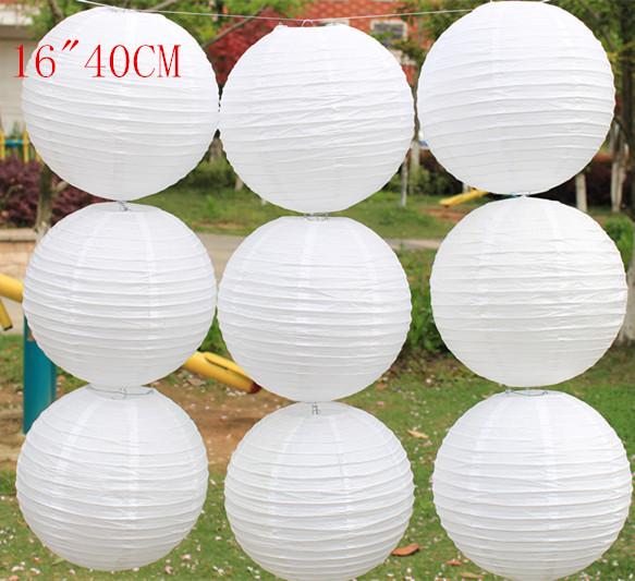 10pcs lot 16 zoll 40cm wei en farben chinesische. Black Bedroom Furniture Sets. Home Design Ideas