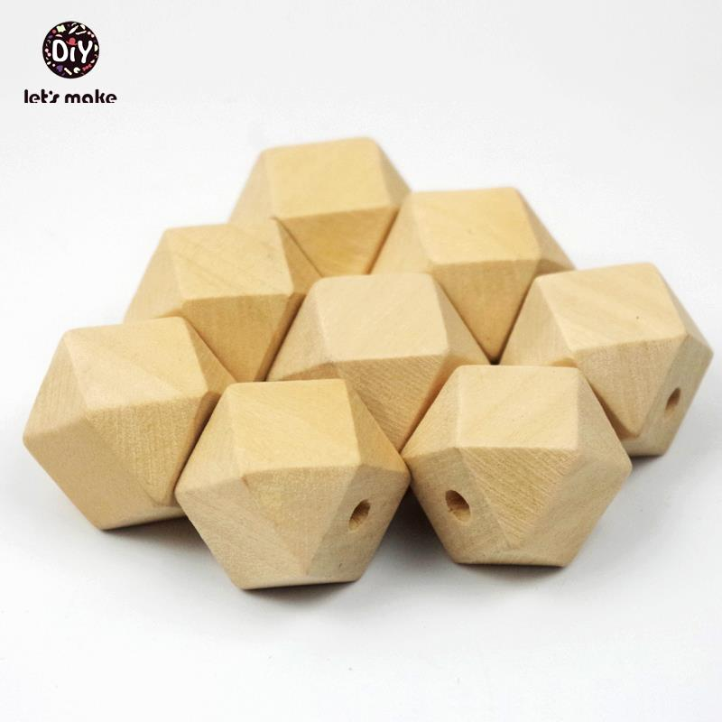 50pcs Unfinished Geometric beads 20mm Wood beads Spacer Beads jewelry for DIY wooden necklace free shipping<br><br>Aliexpress