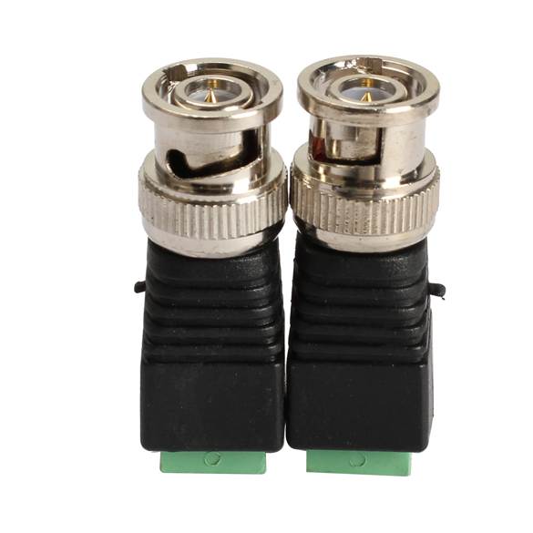 2 Pcs Video AV Balun BNC plug for CAT5 Camera CCTV Video BNC male AV Balun BNC plug Connector Adapter(China (Mainland))