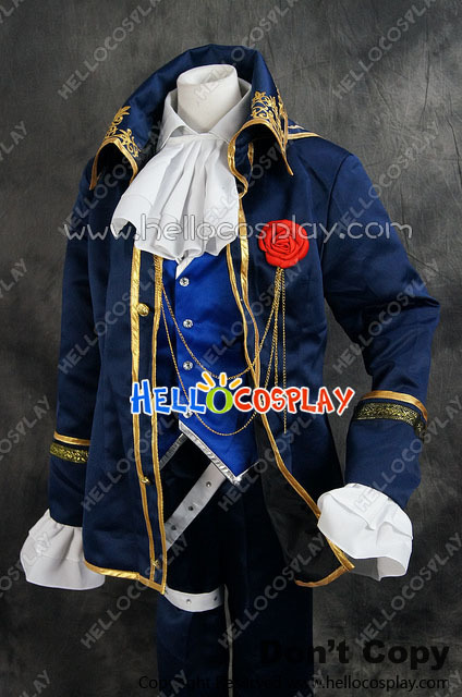 Vocaloid 2 DIVA F Kaito Suit Uniform  Cosplay Costume H008