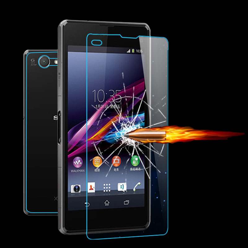 For Sony Xperia Z Z1 Z2 Z3 Z4 Compact T2 T3 C3 C4 M2 M4 E4 E4G L36H 0.26mm 9H Front Premium Tempered Glass Screen Protector Flim(China (Mainland))