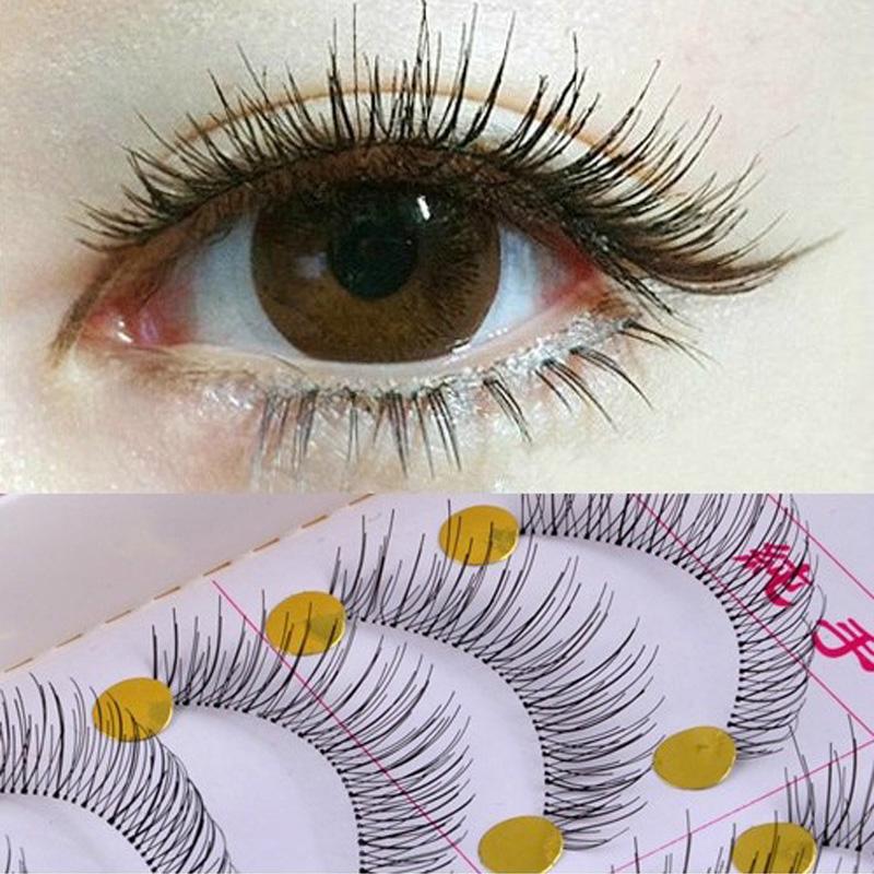 10Pair Reusable Natural Regular Long Eyelashes False Artificial Fake Makeup Eye Lashes Build Cilios - Wellcome sotre store