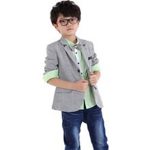 2015 printemps et en automne nouveau style bébé garçons rayé blazers petits garçons casual manteaux XI0053(China (Mainland))