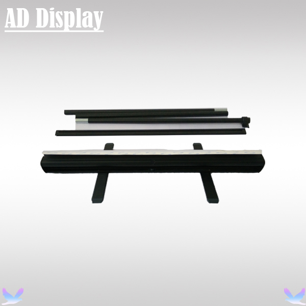 80*200cm 10PCS Black Color Aluminum Portable Roller Banner,Roll Up/Pull Up/Pop Up Display Banner Stand(China (Mainland))