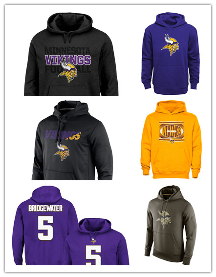 Men's Green Olive Salute To Service KO Performance Hoodie Adrian Peterson Kyle Rudolph Teddy Bridgewater jersey Sweatshirt(China (Mainland))