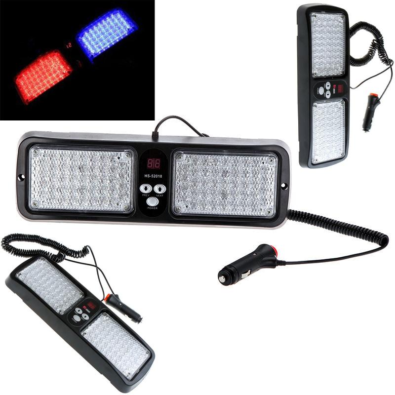 Super Bright 86 LED Car Truck Visor Strobe Flash Panel warning lighting 12 flashing universal 5pcs/lots(China (Mainland))