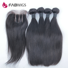 Uprocessed Peruvian Virgin Hair 5pcs Lot  4×4 3 Way Part Lace Closure With peruvian Hair Extension Straight Lace Top Closure