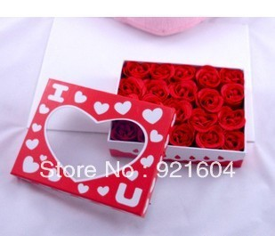 Free Shipping  50boxes/lot   Rose  Soap  Flower  Wedding  Gift  Valentine's Day Gifts
