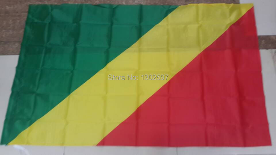 Free shipping 4ft x 6ft Hanging Flag Polyester Republic of the Congo National Flag Banner Outdoor Indoor 120x180cm(China (Mainland))
