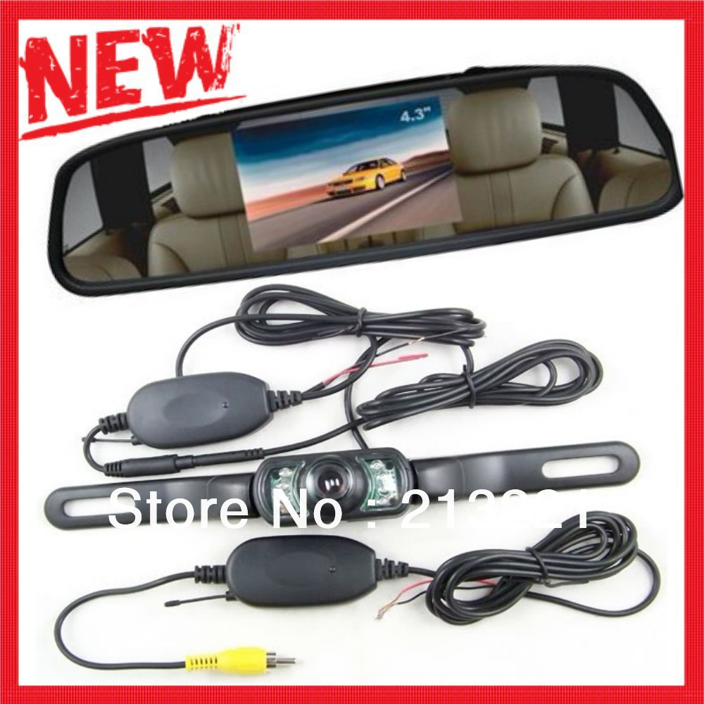 2013 NEW Car rear view camera wireless reversing camera night vision + waterproof for Auto parking backup rear monitoring system