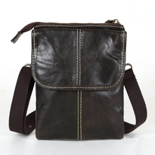 Promotion Vintage Real Genuine Leather Small Men Messenger Bags Mini Mobile Phone Bag Cigarette Bag Men's Shoulder Bags #VP-L009(China (Mainland))