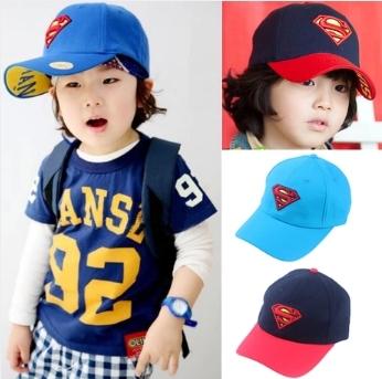 """Children's visor Summer Hats """"Super man"""" Visors Caps Kids Child - Anini Trading Co., Ltd. store"""