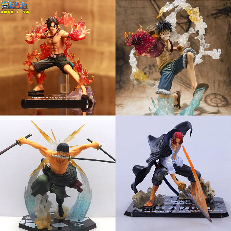One Piece Anime Figuarts Zoro Monkey D Luffy Action Figure PVC One piece sanji Fighting Figure Ace pop New World Toy(China (Mainland))