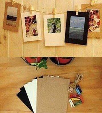 10 шт. 3 дюймов милый бумаги флим стены фотоальбом DIY висит веревка лагерь