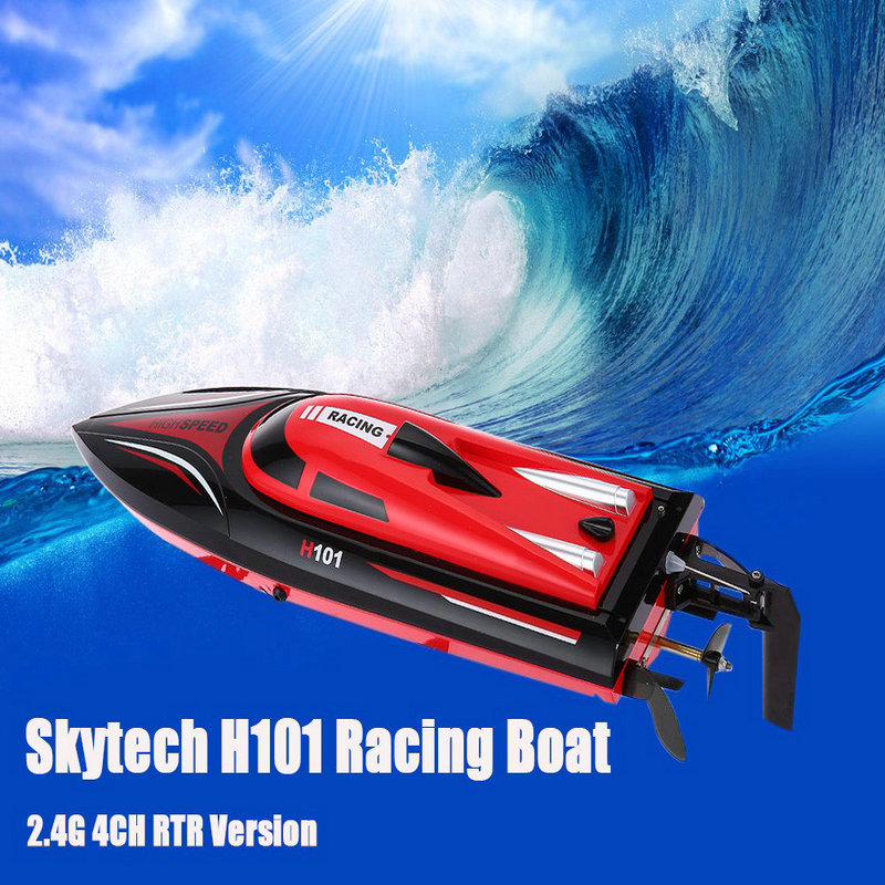 RC Boats H101 2.4G 4CH Remote Control Boat Racing Yacht Boat Toy Simulation Model RTR Version Speed Boat Hot Sale(China (Mainland))