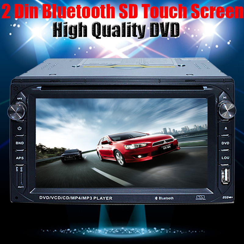 "2 Din 6.2"" In dash Car stereo touch screen Car dvd player TV Bluetooth Touch Screen DVD MP3/MP4 Audio USB SD Card no gps(China (Mainland))"