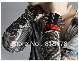 Free shipping! 12 PCS Hot Nylon Stretchy Fake Tattoo Sleeves Arm Stockings new 140 kinds of styles to choose from