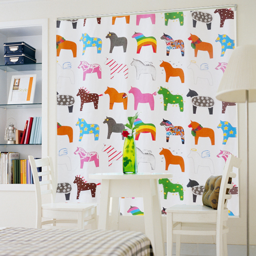 Colorful horses printed 100 cotton canvas fabric for for Horse fabric for kids