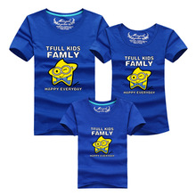 2016 Summer Cotton Short Sleeve Tshirt Family Matching Outfit Fmaily Look Plus Size T Shirt Tops For Women Men Baby Family Set