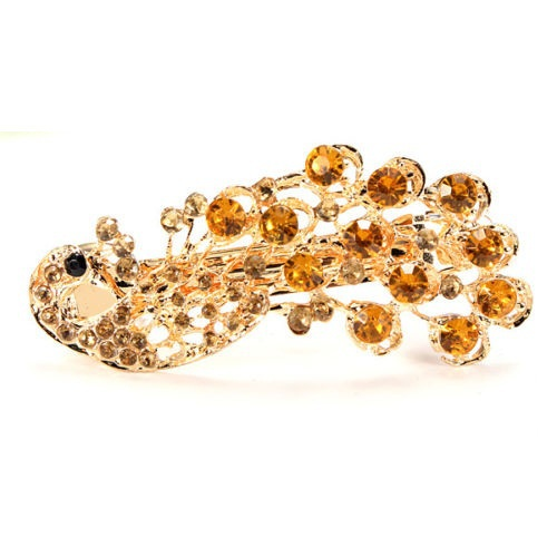 1 PC New Retro Peacock Full Crystal Rhinestones Barrette Hair Clip Hairpin Bridal Hair Band Accessories(China (Mainland))