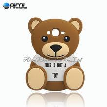 3D Cute Bear Soft Case iphone 5S SE 5C 6 6S Plus/Samsung Galaxy S4 S5 S6 Edge S7 Egde J1ace J5 J7 A3 A5 A7 2016 - Aicol Electornics Co,.Ltd store