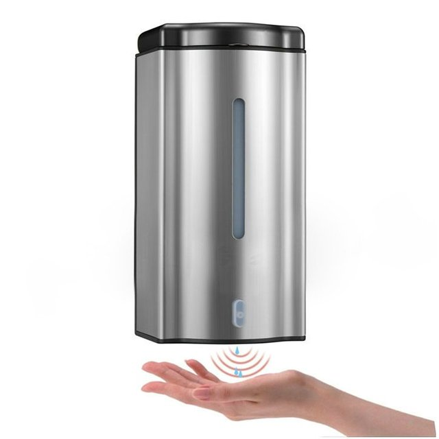Purchasing Sample 600ML Automatic Soap Dispenser with flash Light  Wall-hung Stainless Steel ABS Sensor Lotion Dispenser TGYSD19