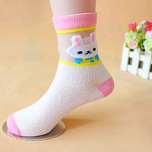 Hot sales  Cheap promotion  thin cotton cute breathable antibacterial children  cotton with lace socks individual package(China (Mainland))