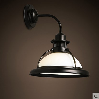 Old Fashioned Wall Lamp Shades : Aliexpress.com : Buy Loft Industrial Edison Style Retro Vintage Wall Lamp With Glass Shade Wall ...
