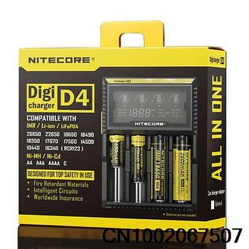 2015 Newest Nitecore D4 LCD Intelligent Circuitry Global Insurance 18650 14500 16340 26650 Charger battery 18650 charger