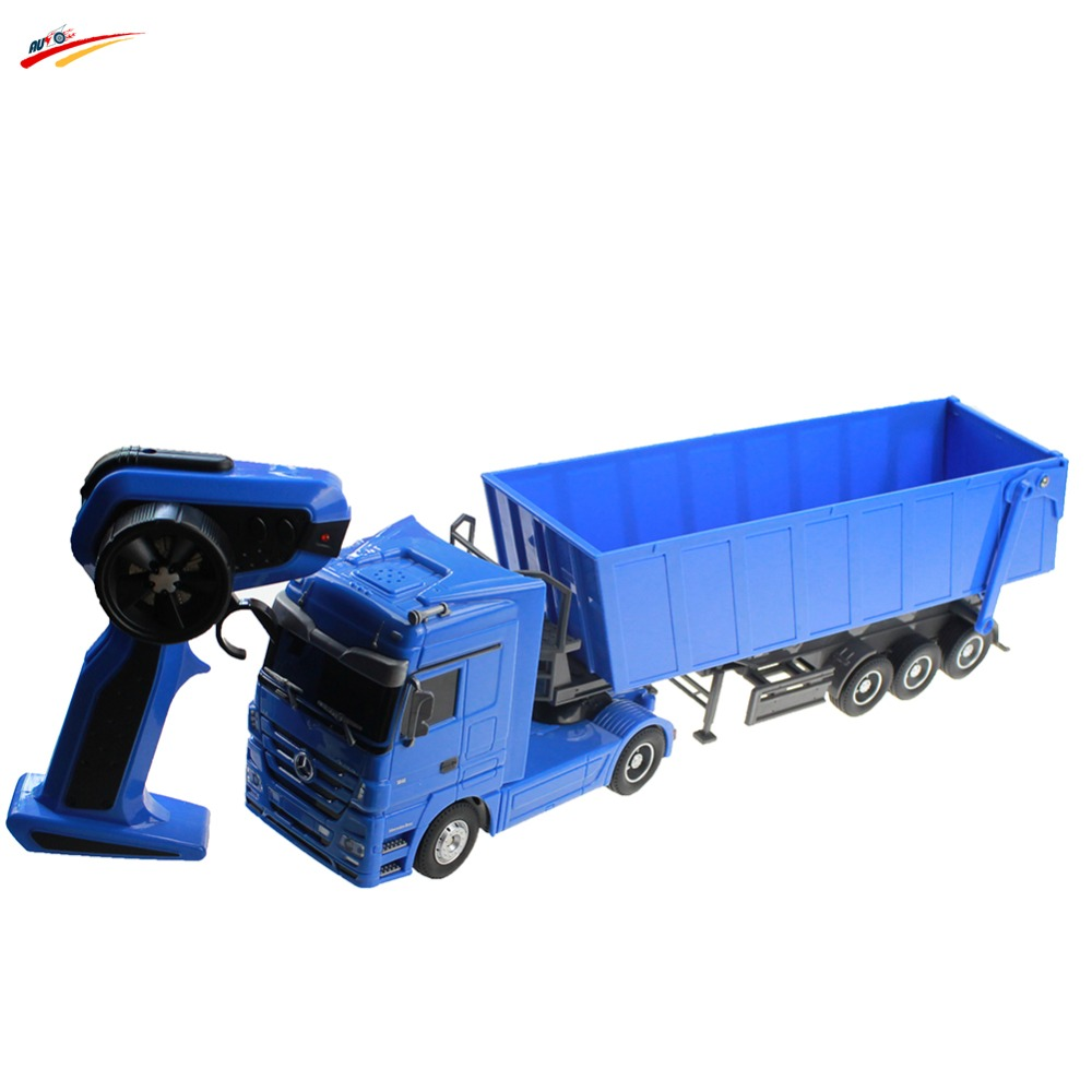 RC Truck 1:32 Brand Dumper Truck 10 Wheel 6CH Radio Control Automatic Lift Engineering Contrainer Truck Electronic Toy Vehicle(China (Mainland))
