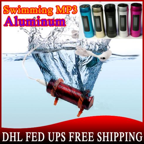 20pcs/lot WaterProof LCD Screen Mp3 Player IPX8 Water Proof Swimming Sport MP3 Player With 4GB FM Radio(China (Mainland))