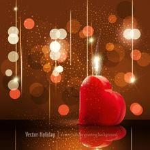 Photography Background Valentine'S Background Light Spot Red Heart Studio Photo Backdrops Background Vinyl