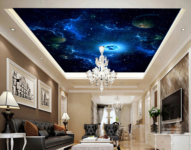 acheter personnalis peintures murales de papier peint plafond l 39 univers est. Black Bedroom Furniture Sets. Home Design Ideas
