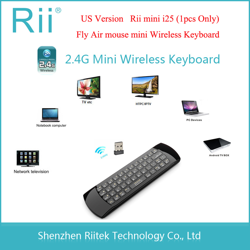 Original 3 in 1 Rii i25 2.4G Mini Wirless Keyboard With Air Fly Mouse Handheld PC Teclado For Tablet HTPC Smart Android TV Box(China (Mainland))