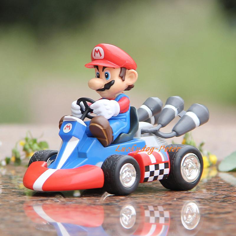 Action Figure Toys Super Mario Bros 1/10 scale painted figure Mario Auto racing figure Garage Kits Dolls Brinquedos Anime(China (Mainland))