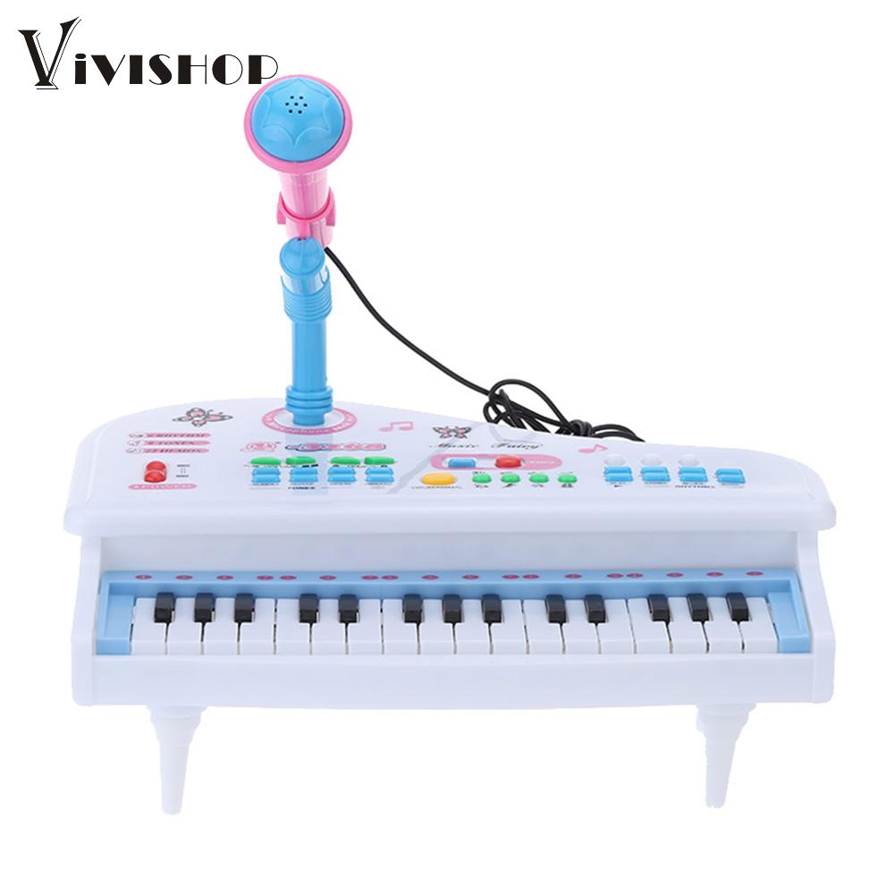 Multifunctional Mini Electronic 31 Keys Electone Piano Toy with Microphone Child Kids Musical Toys Electrical Keyboard Electone(China (Mainland))